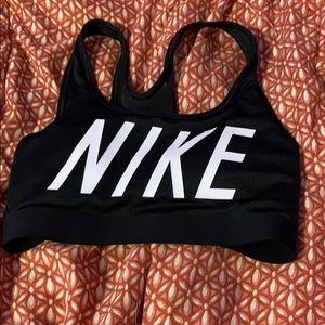 Black Nikes sports bra